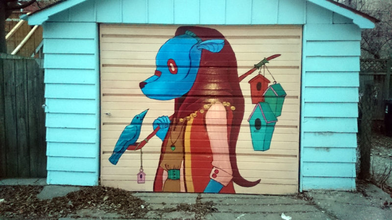 Garage Door Murals Downtown