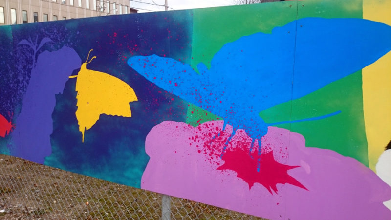 Nick Sweetman temporary mural