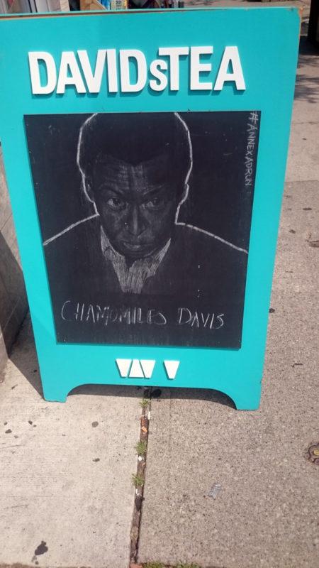 Sidewalk clapboard captures