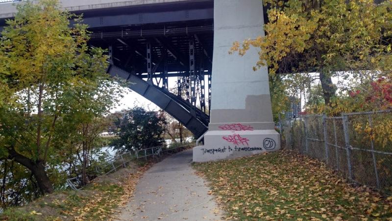 Tagging and bombing bridge