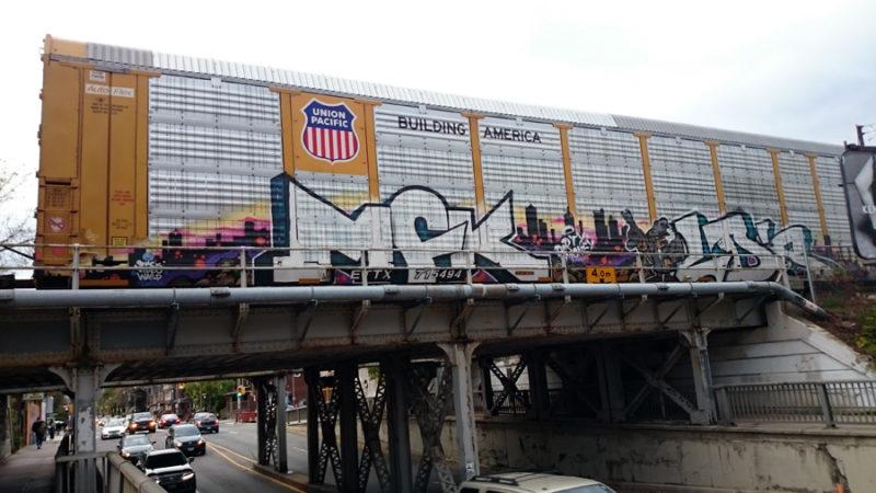 Train graff moving artwork