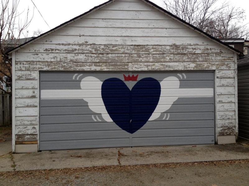 Canadian themed garage doors