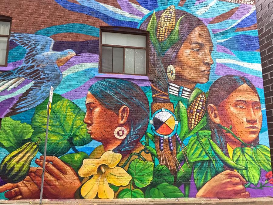 Massive aerosol art mural