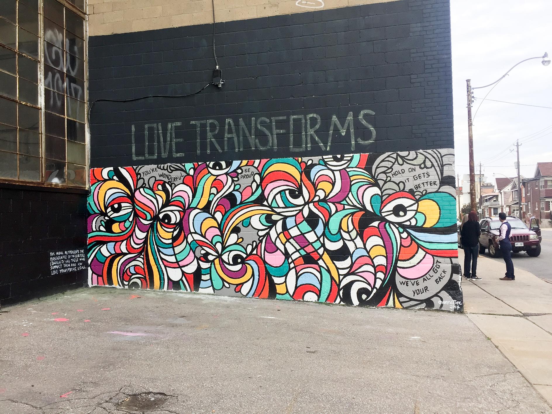 love transforms mural