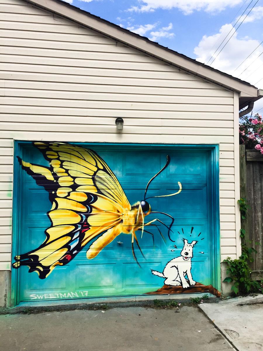 Garage artwork Nick Sweetman