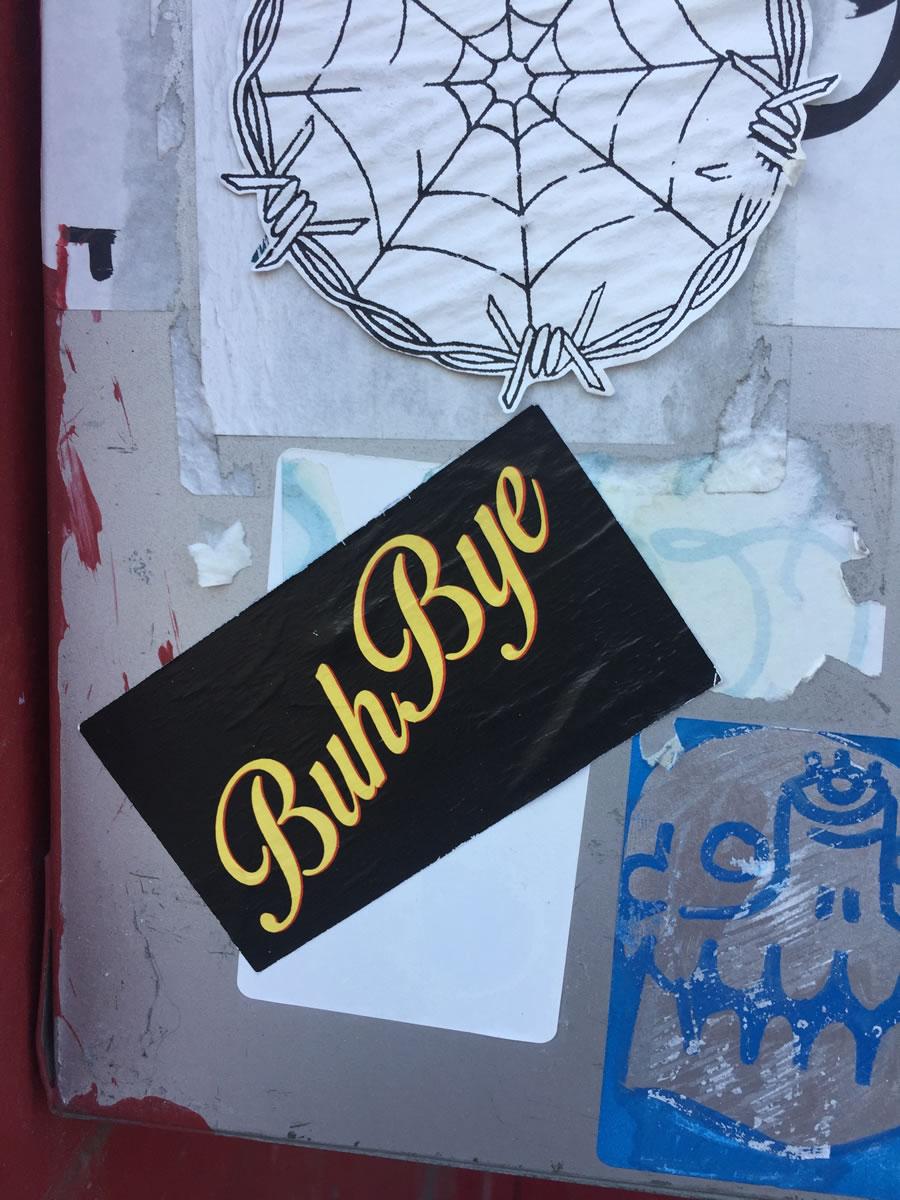 Sticker of Buh Bye..
