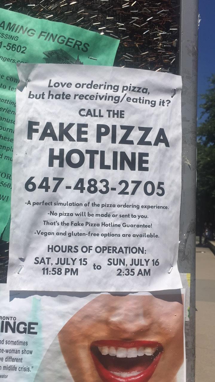Fake Pizza Bulletin Board