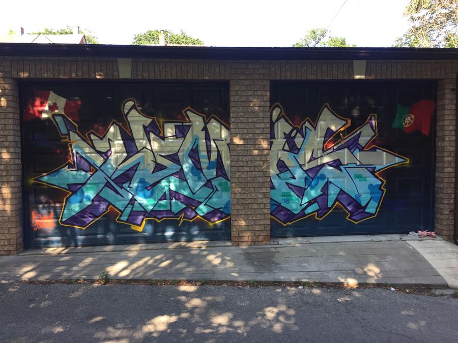 Garage door mural by Hemps...