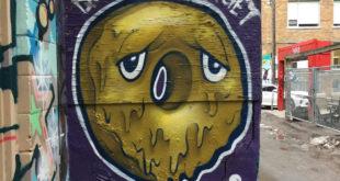 Donut mural artist LuvSumone