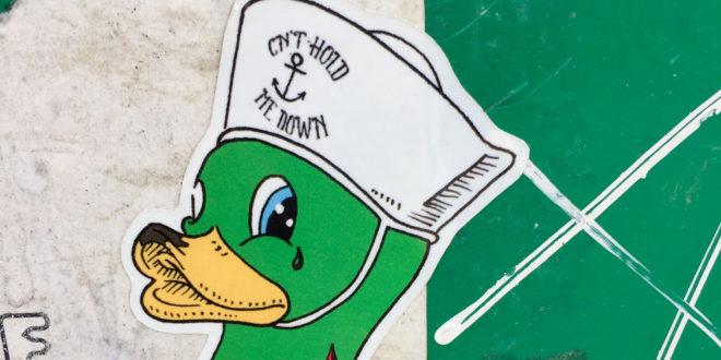 what is adam sticker slap artwork