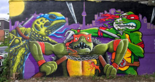 Collaboration mural TNNT with 3 Teenage Mutant Ninja Turtle