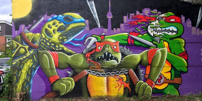 Collaboration mural TNNT with 3 Teenage Mutant Ninja Turtle