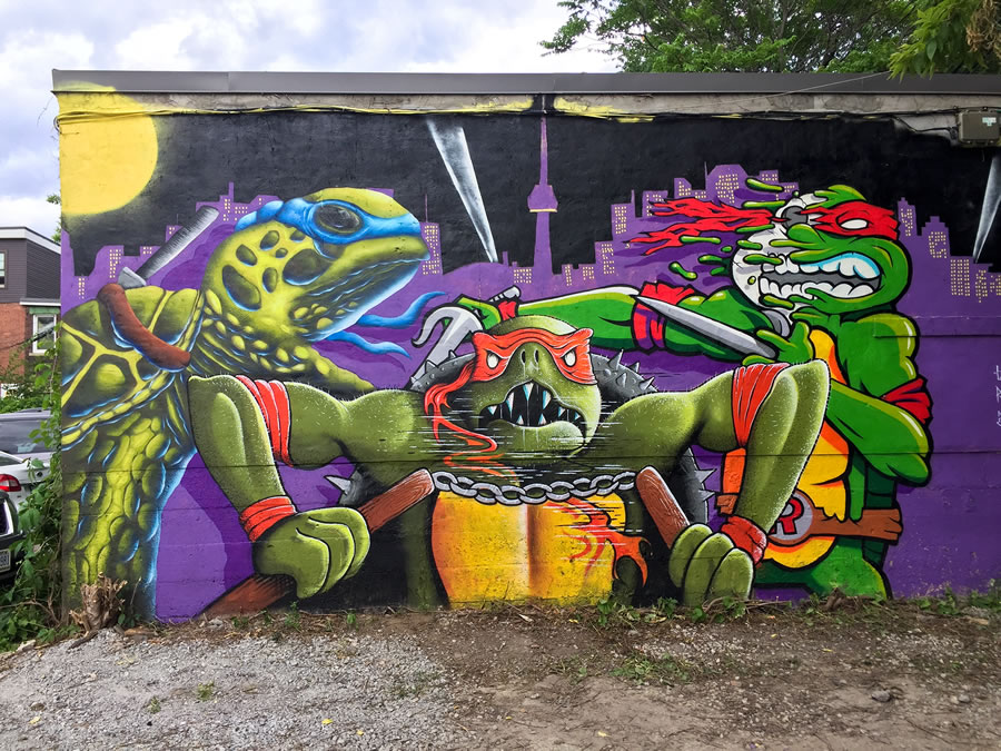 Mutant ninja turtle graffiti