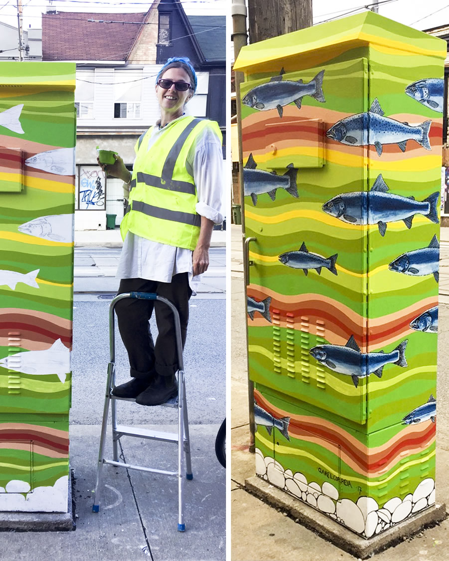 Hand Painted Fish Utility Box
