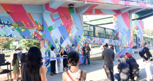 Ribbon Cutting Mural Event