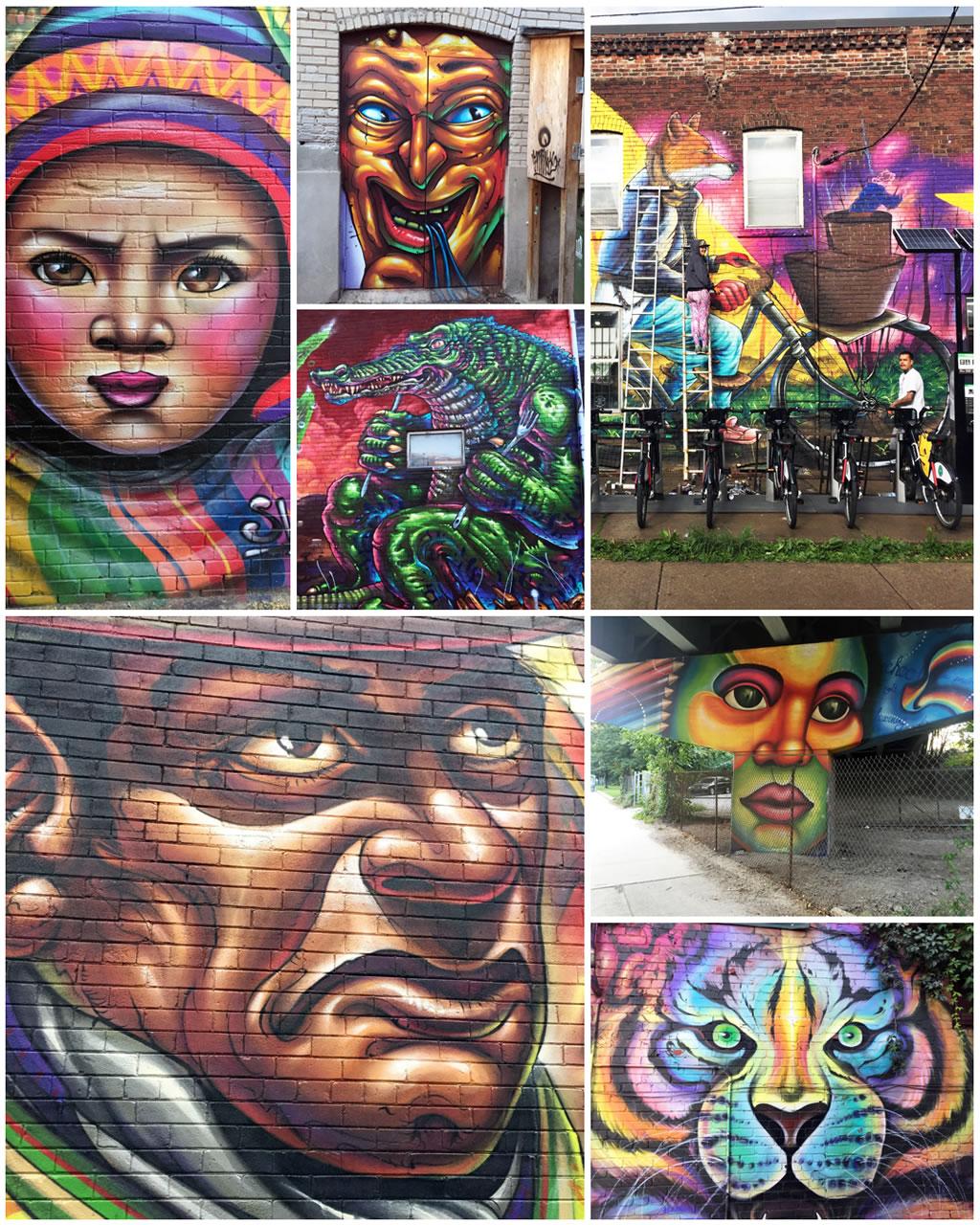 Bruno Smoky & Shalak Attack Toronto Street Art Graffiti