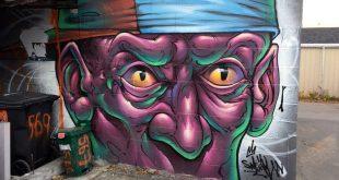 Bruno Smoky Face Mural