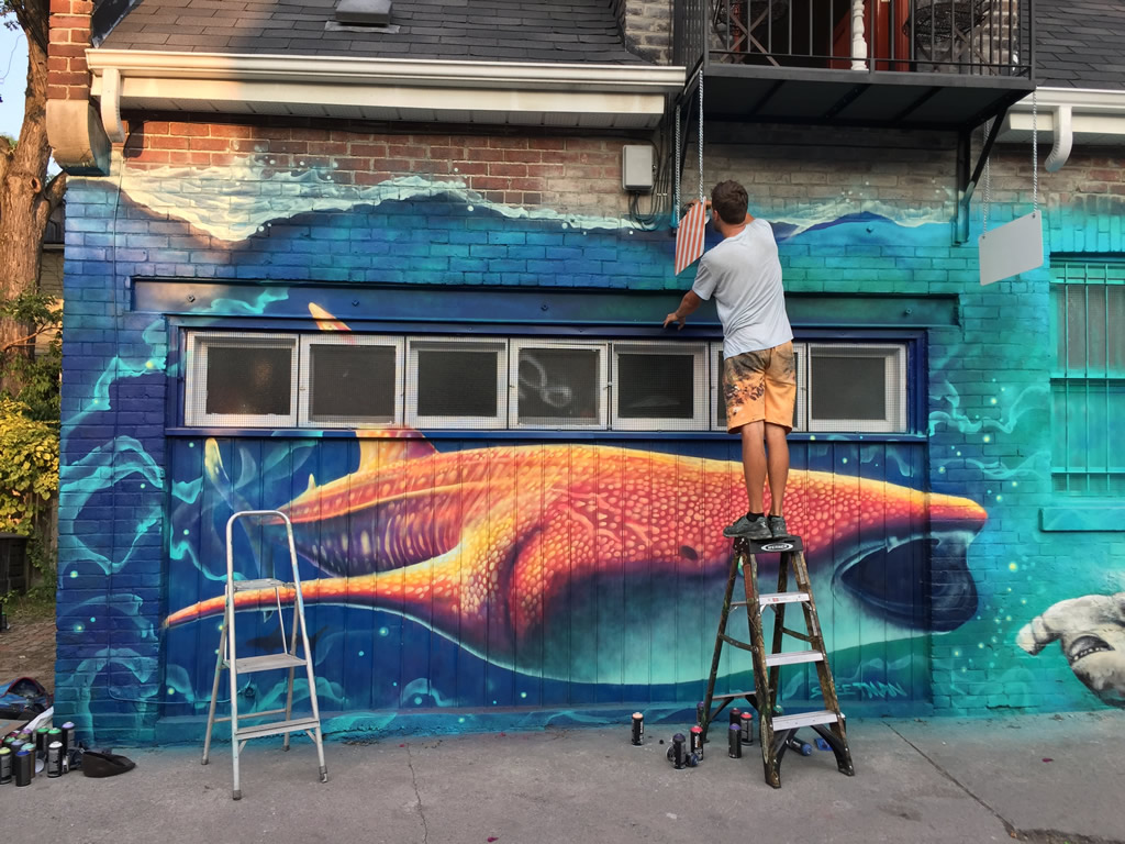 Nick Sweetman Whale Shark Mural During