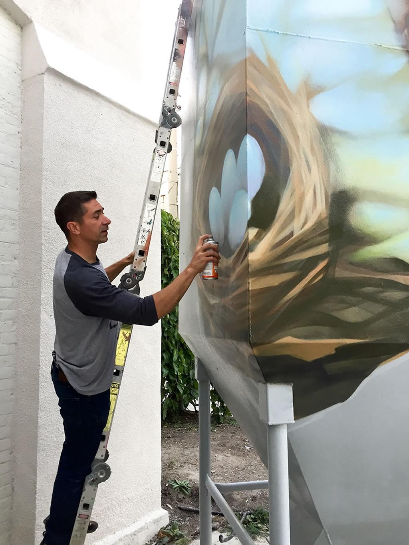 Alex Bacon Birds Nest Mural