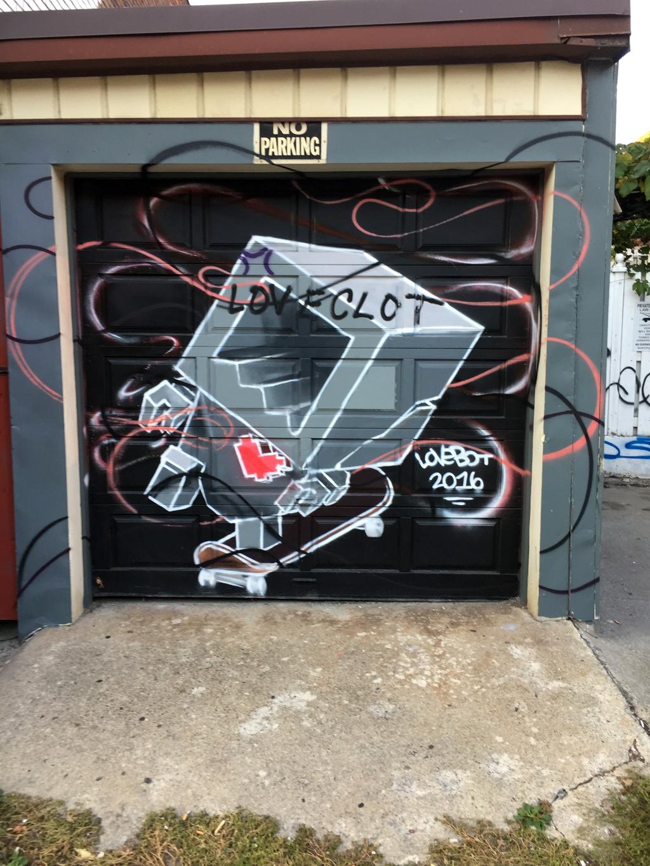 Lovebot Robot Garage Mural