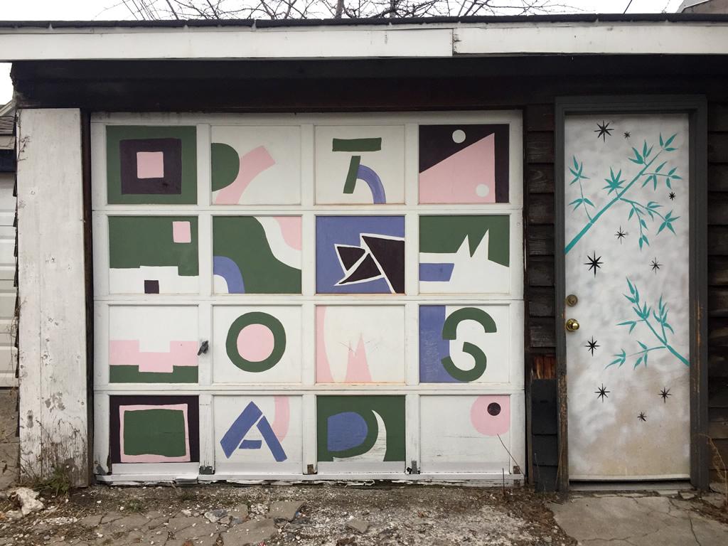 for door installation materials fake windows covers garage