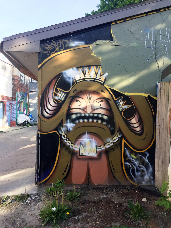Toronto Street Art Graffiti Garage Door Artwork Murals